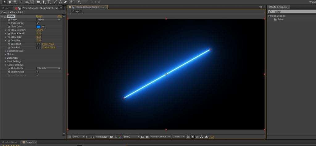 에프터이펙트 광선검