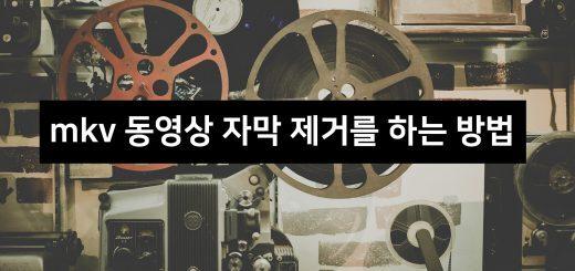 mkv 동영상 자막 제거