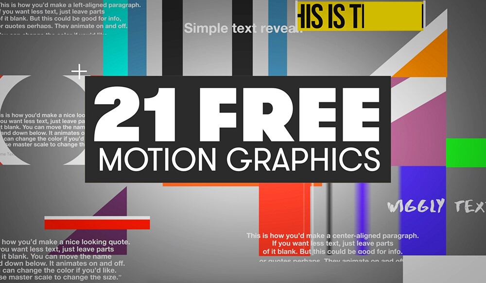 the beat free motion graphics