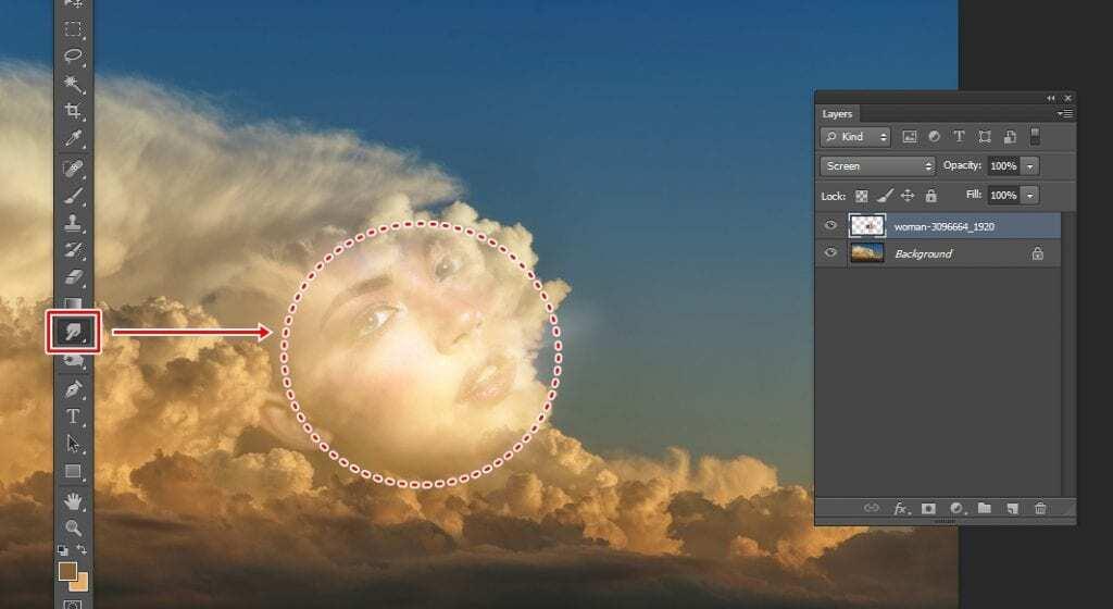 포토샵 구름 얼굴