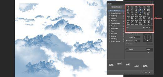 포토샵 구름 브러쉬