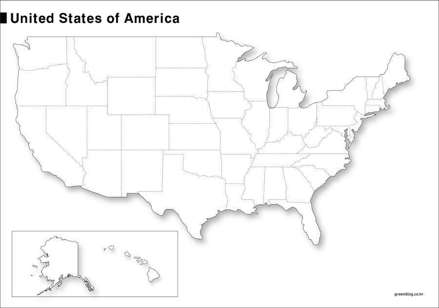 미국 지도
