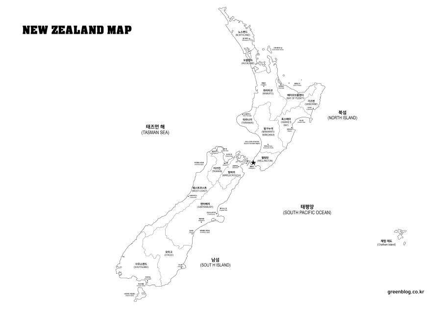 뉴질랜드 지도