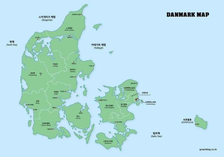 덴마크 지도
