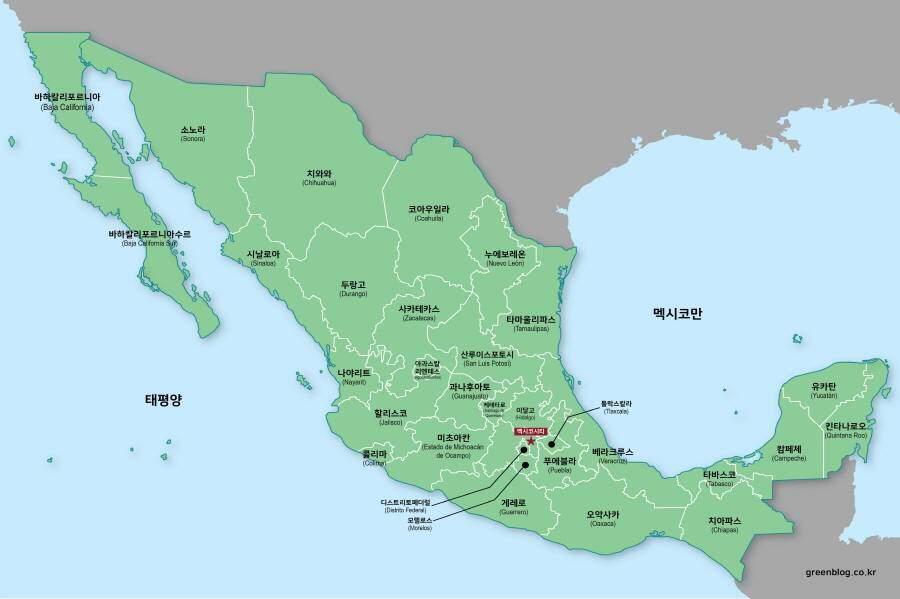 멕시코 지도