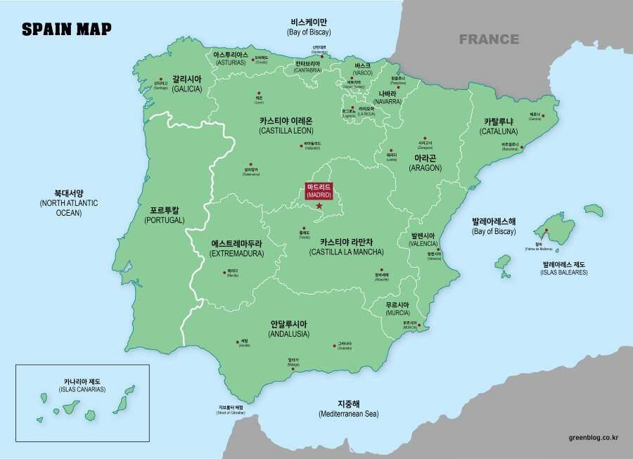 스페인 지도
