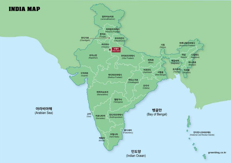 인도 지도