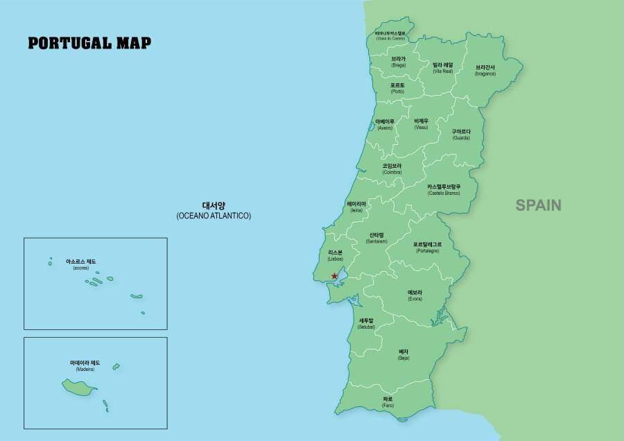 포르투칼 지도