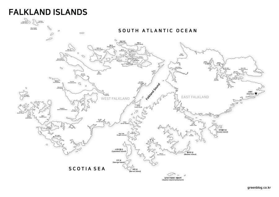 포클랜드 지도