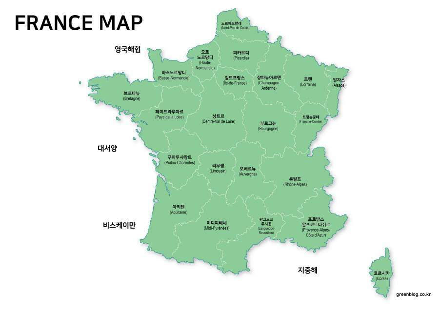 프랑스 지도