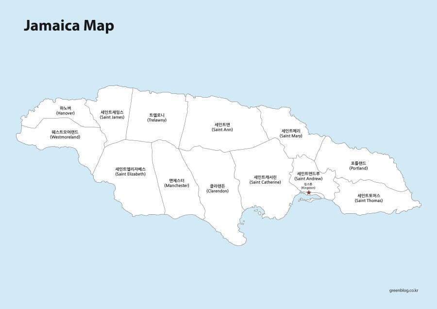 자메이카 지도
