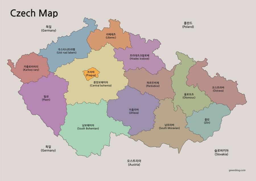 체코 지도