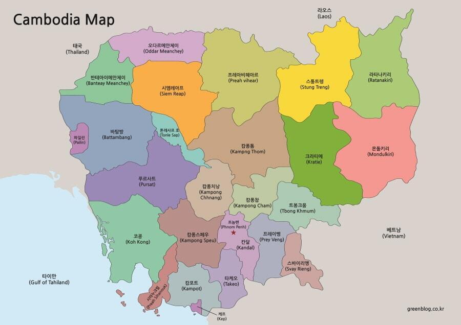 캄보디아 지도