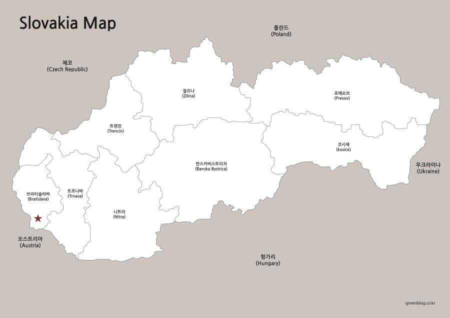 슬로바키아 지도