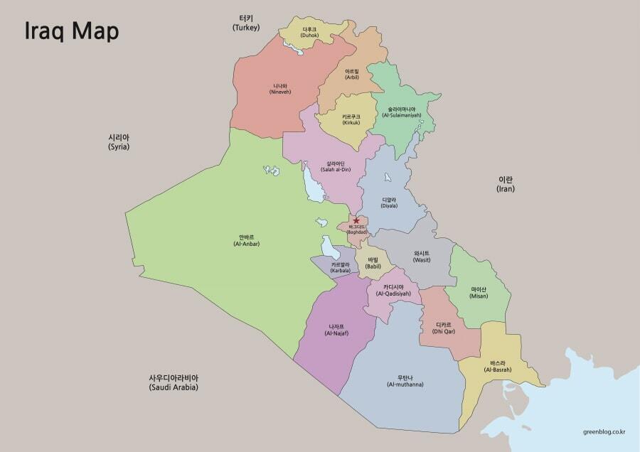 이라크 지도