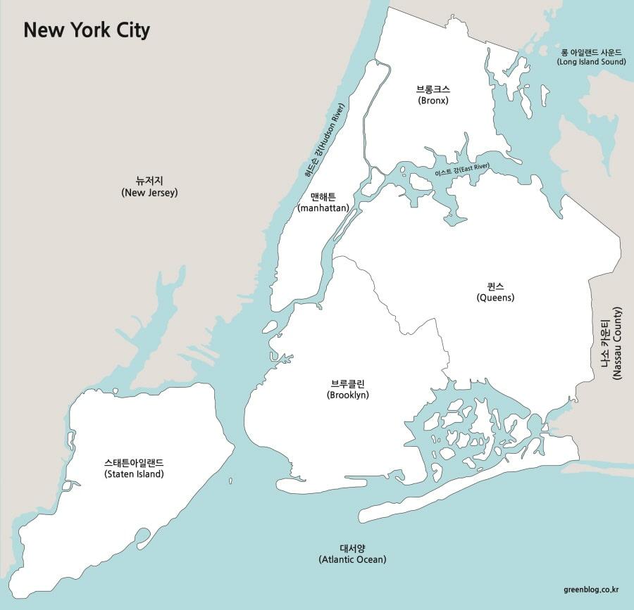 뉴욕시 지도