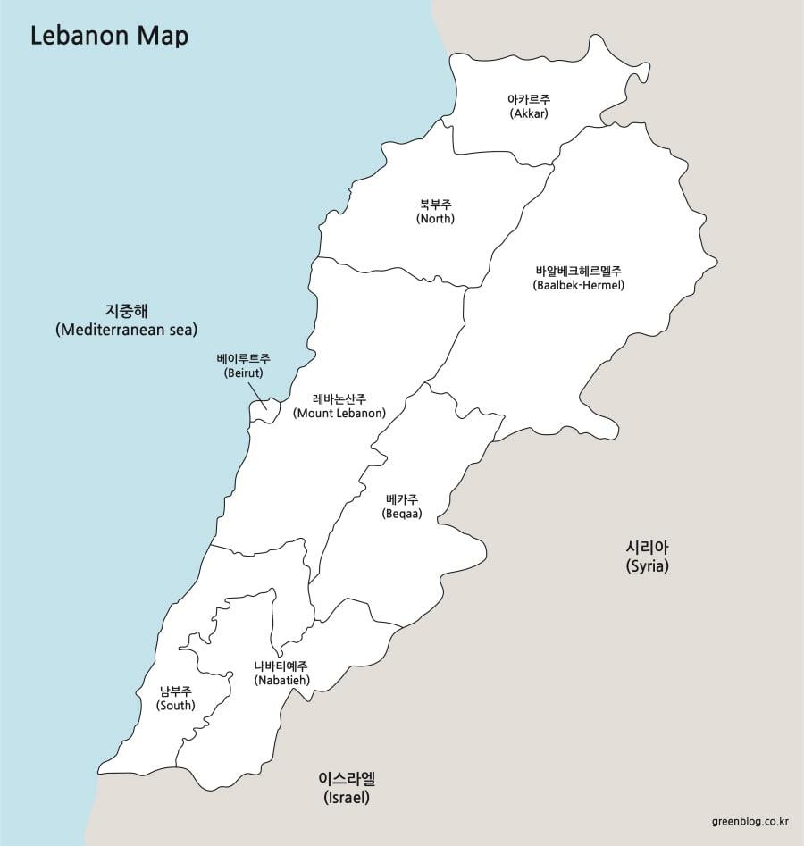 레바논 지도