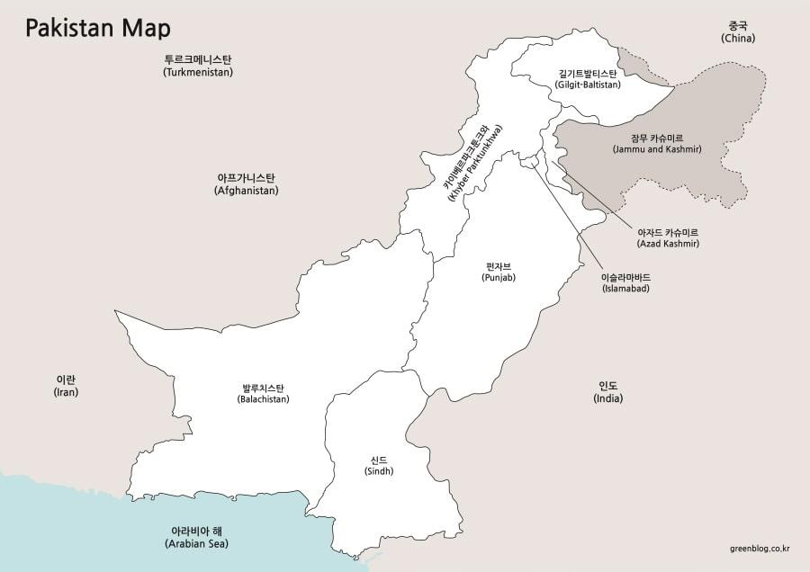 파키스탄 지도