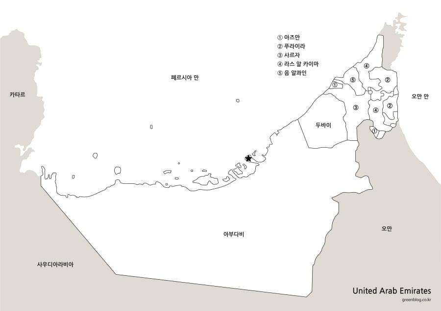 아랍에미리트 지도
