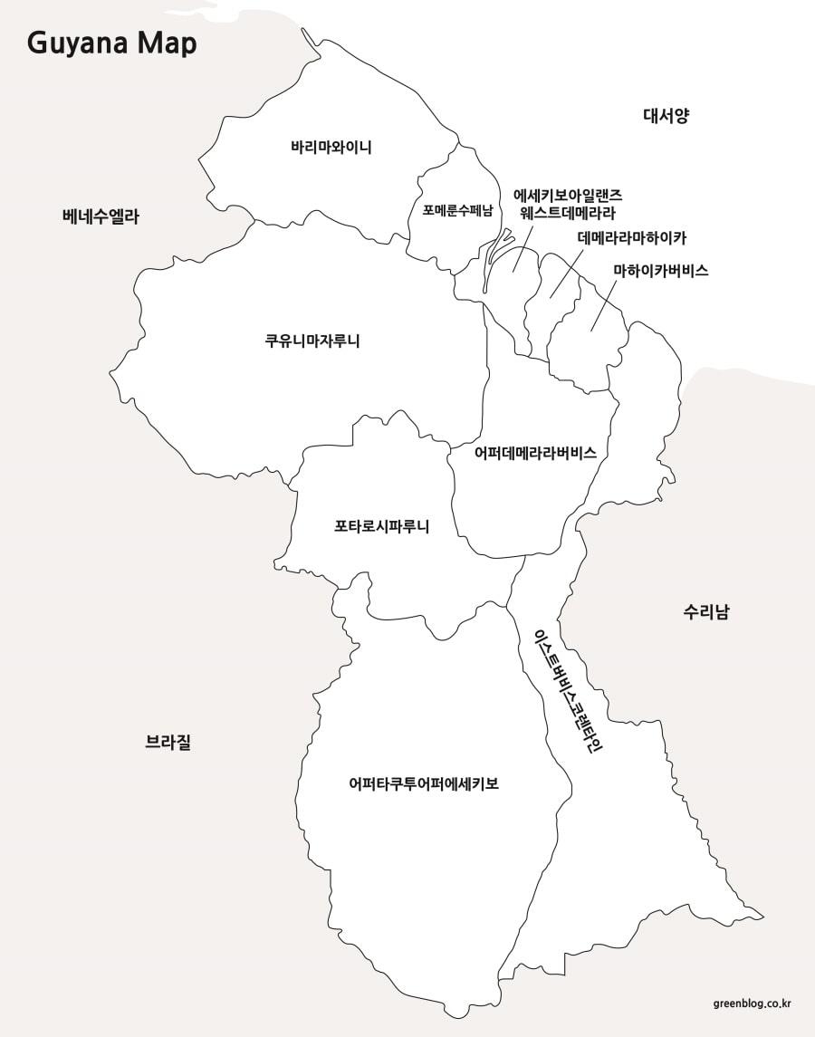 가이아나 지도