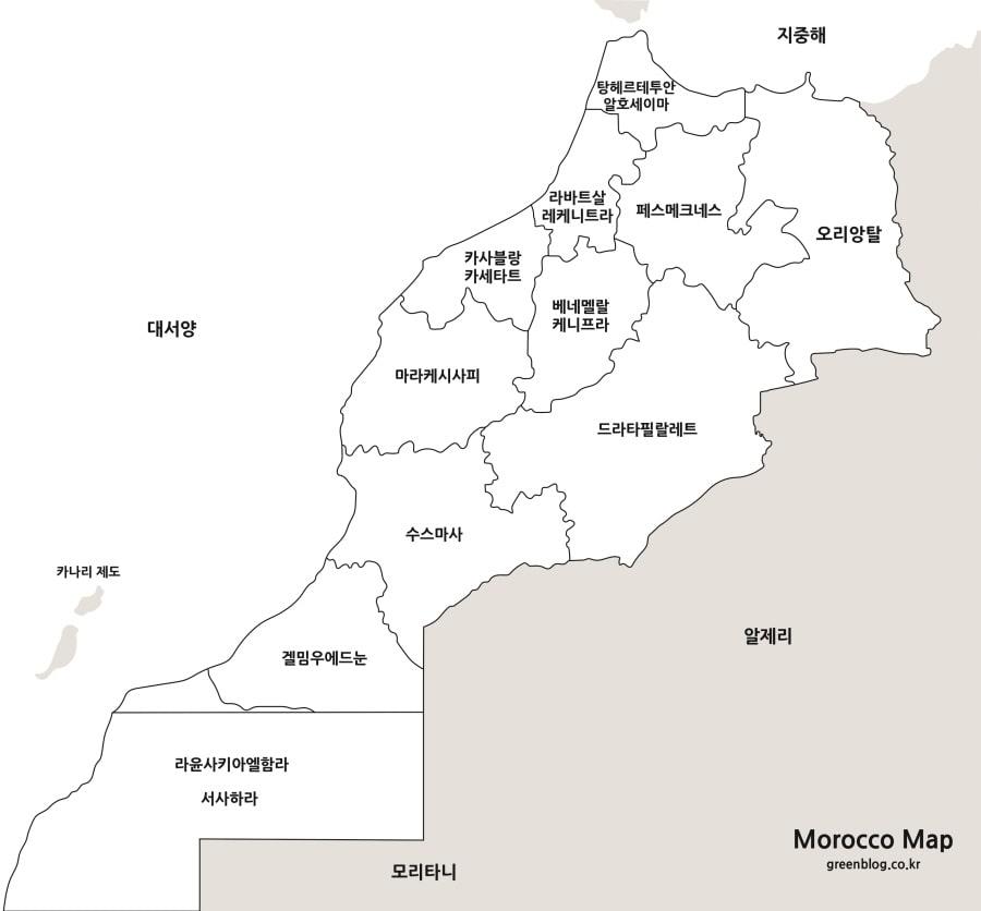 모로코 지도