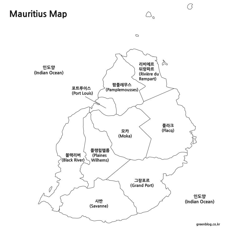 모리셔스 지도