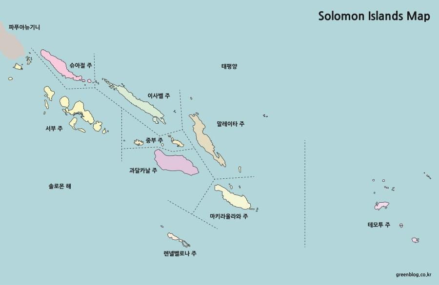 솔로몬 제도 지도