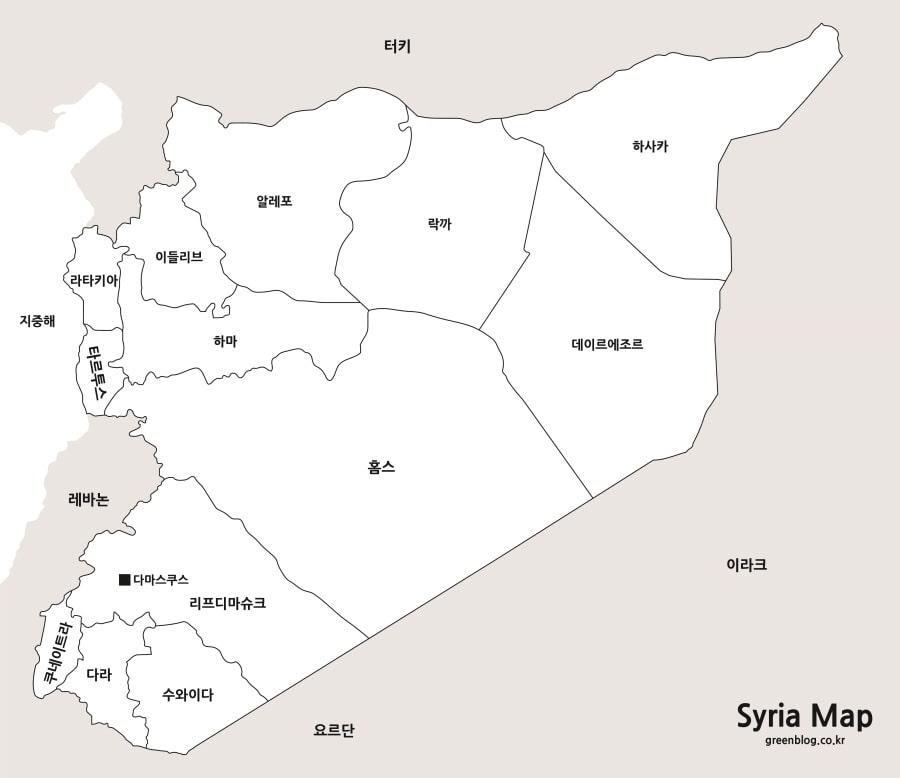 시리아 지도