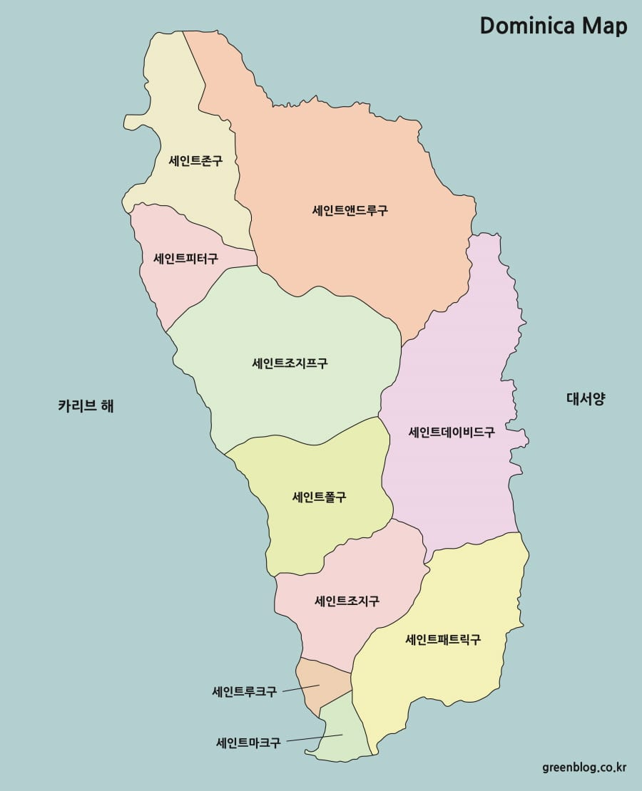 도미니카 지도