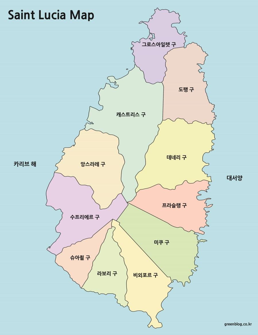 세인트루시아 지도