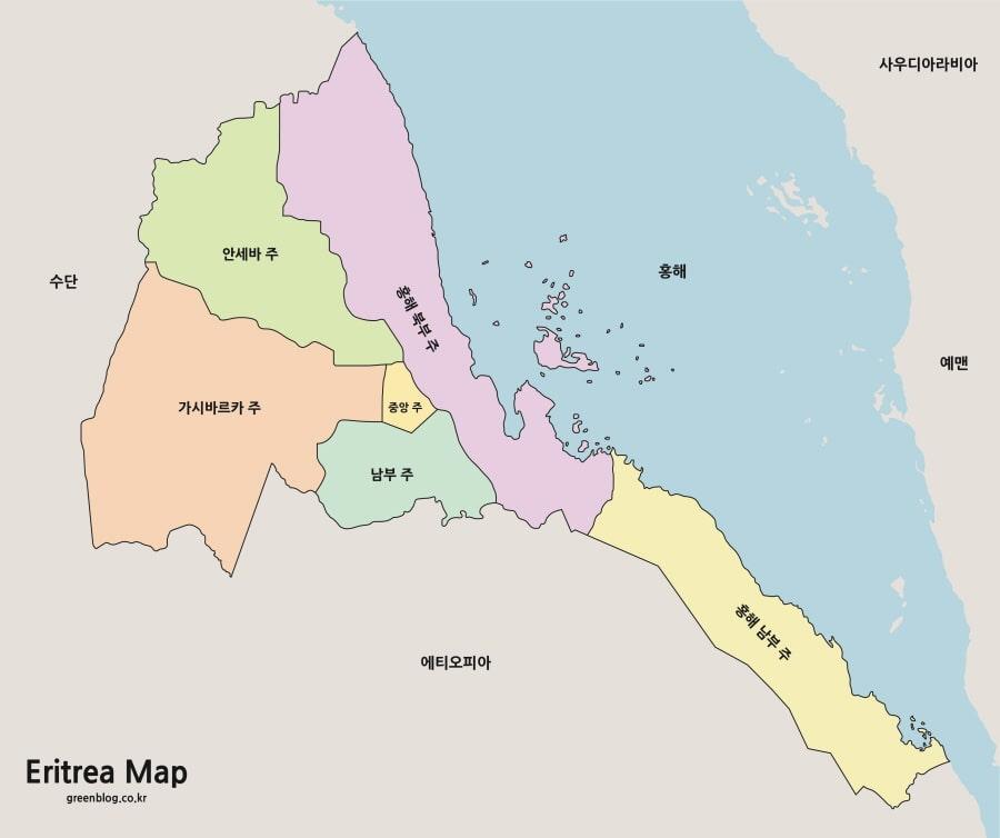 에리트레아 지도