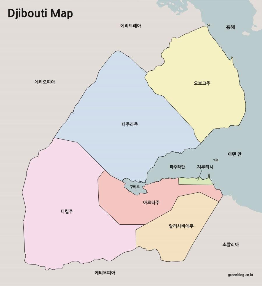 지부티 지도